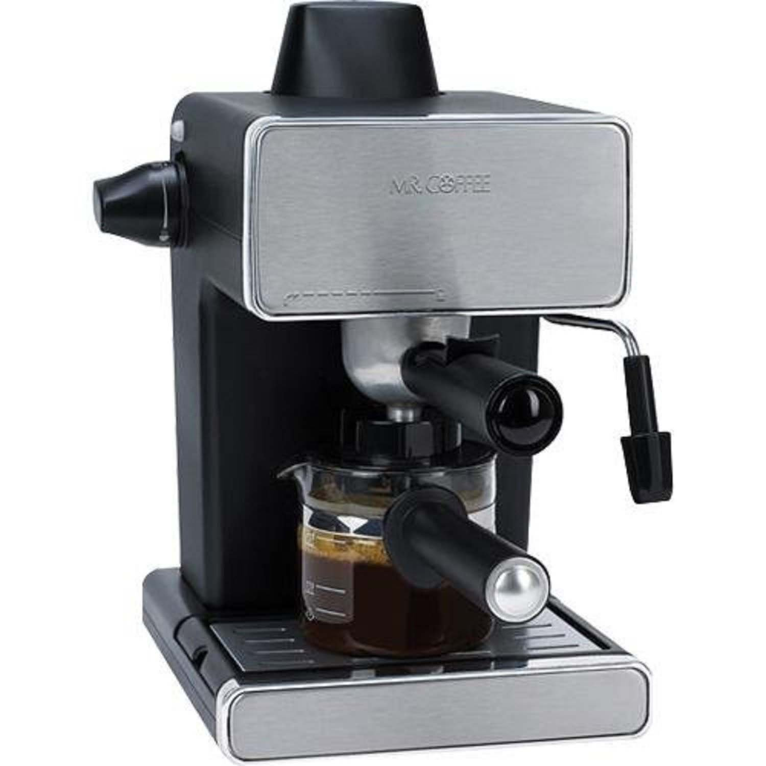 Mr. Coffee BVMC-ECM260-RB-1 Steam Espresso and Cappuccino Maker, Black by Mr. Coffee
