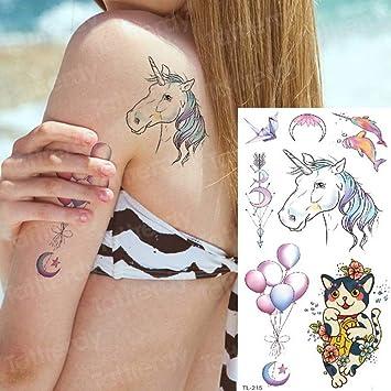 tatuaje para niños tatuaje colibrí pegatina cuerpo flor de loto ...