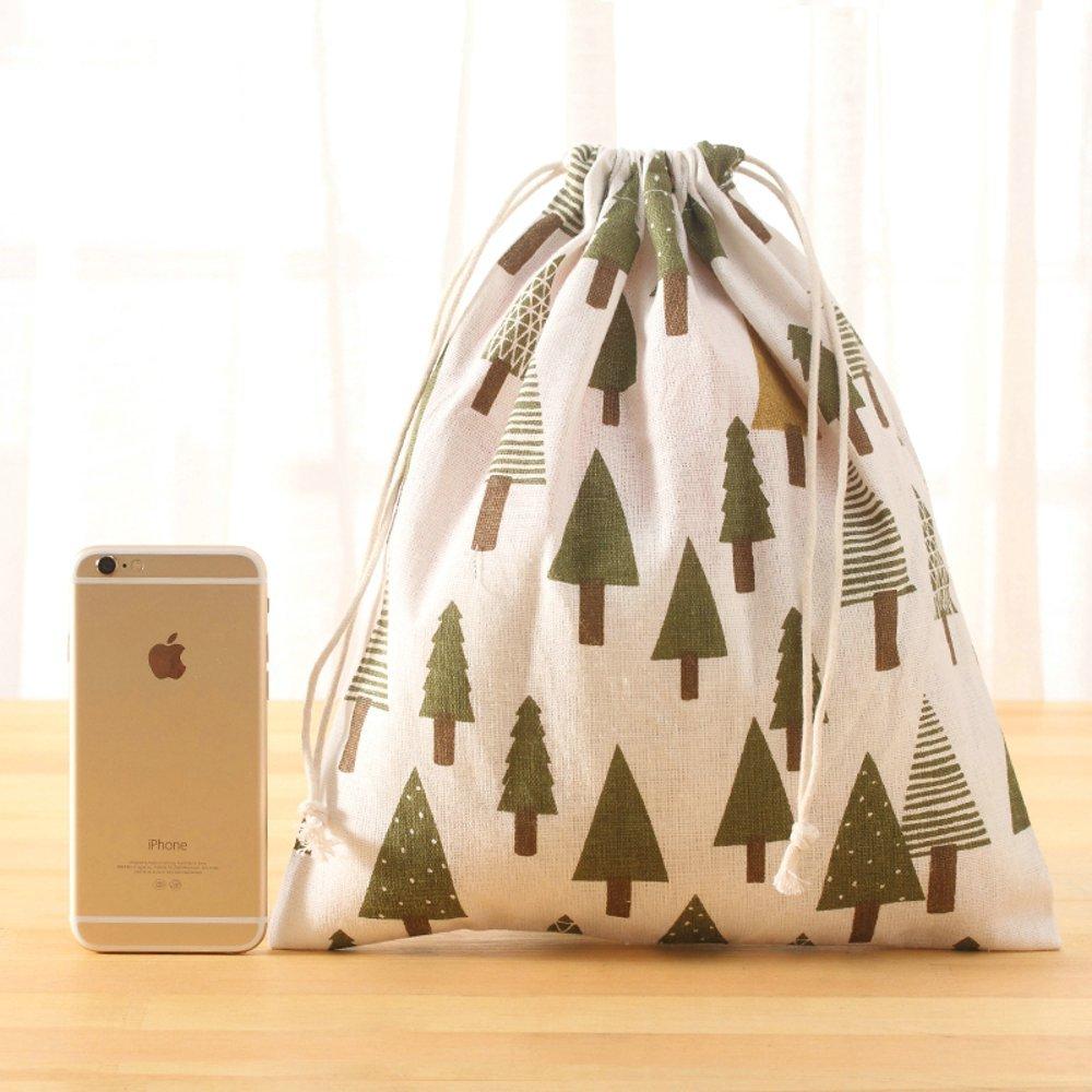 Irctek 旅行用保管バッグ 巾着 下着 トイレタリー おもちゃ バギーバッグ 3個組 B01JVKOAIM Grove Grove