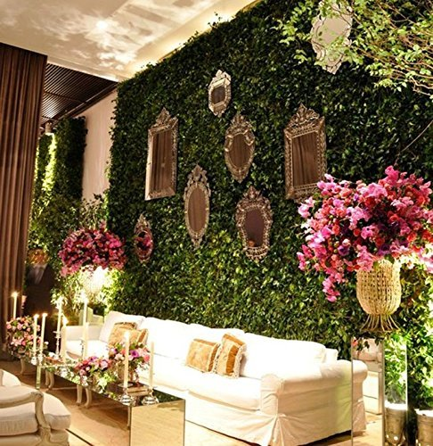 LovelyHouse Artificial Privacy Hedge Screen, UV Privacy Fence Screen Greenery Panel,Faux Greenery Mats Boxwood Wall, Indoor/Outdoor Decor,20 x 20 Inch,20 x 20 Inch,1 Piece
