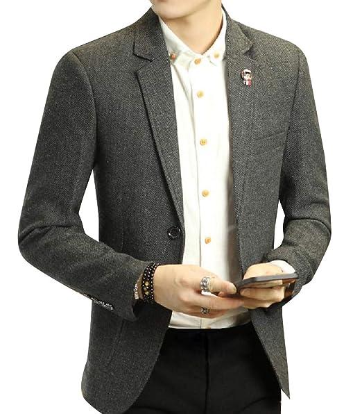 Amazon.com: Losait - Abrigo para hombre, diseño de cachemira ...