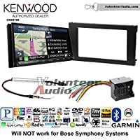 Volunteer Audio Kenwood DNX874S Double Din Radio Install Kit with GPS Navigation Apple CarPlay Android Auto Fits 2002-2008 Audi A6