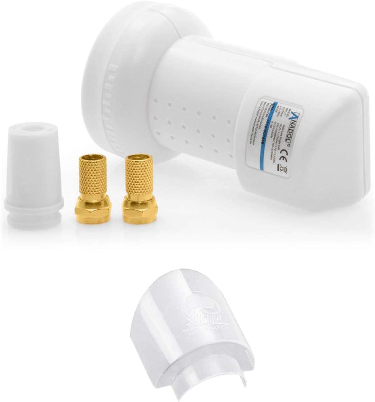 Anadol GoldLine Single LNB 0,1 dB [test 2X muy bueno] – extremadamente frío & resistente al calor (-30 hasta 60 °C)