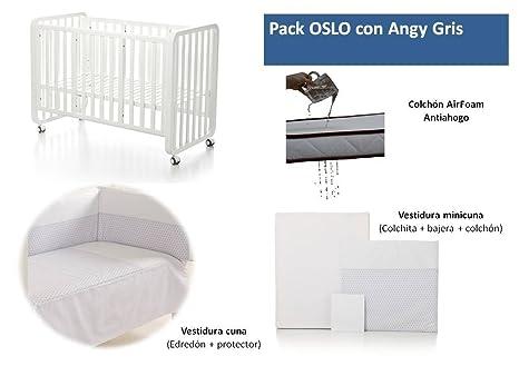 Bolin Bolon Pack Cuna-minicuna colecho OSLO completa ANGY GRIS