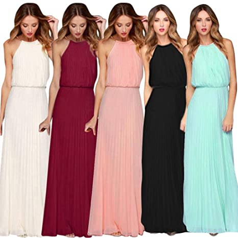 Amazon.com: ShiTou Skirt, Chiffon, Sleeveless, Prom Evening Evening Party Long Dress: Clothing