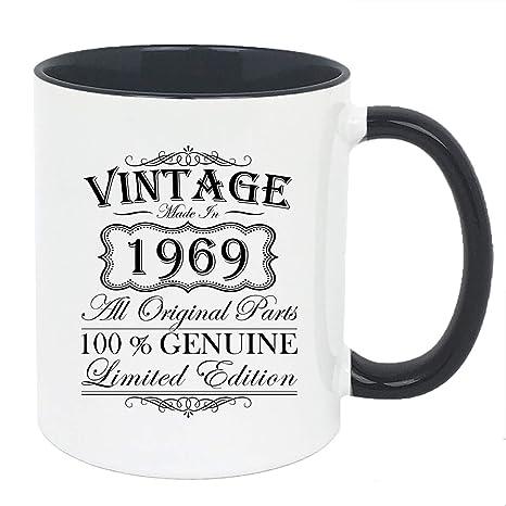 Amazon.com: 50 cumpleaños regalo – Vintage 1969, taza de ...