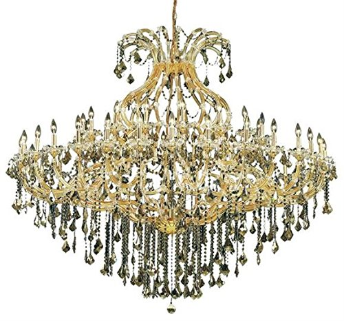 Karla Gold Traditional 49-Light Grand Chandelier Heirloom Handcut crystal in Crystal (Clear)-2380G72G-RC--72