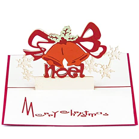 Amazon paper spiritz pop up christmas greeting card 3d happy paper spiritz pop up christmas greeting card 3d happy new year card laser cut paper art m4hsunfo