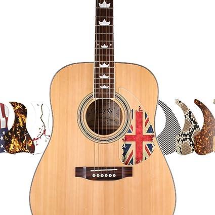 Amazon Com Healing Shield Premium Acoustic Guitar Pick Guards Basic