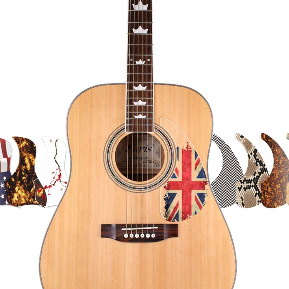 Healing Shield Premium Acoustic Guitar Pick Guards Style Type - Leap-A (006A_S)