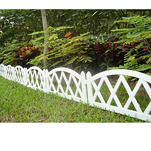 Picket Fence Edging (Worth Garden Plastic Fence Pickets Indoor Outdoor Protective Guard Edging Decor #3118)
