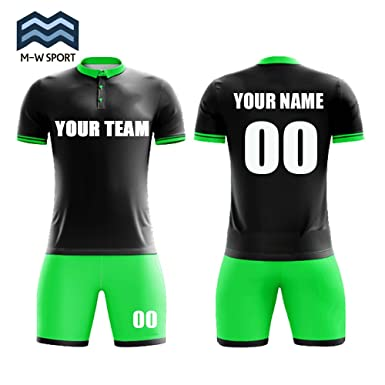 25f25356d Amazon.com: Custom Buttons T-Shirt Soccer Uniform Sets Design Your Team  Jerseys: Clothing