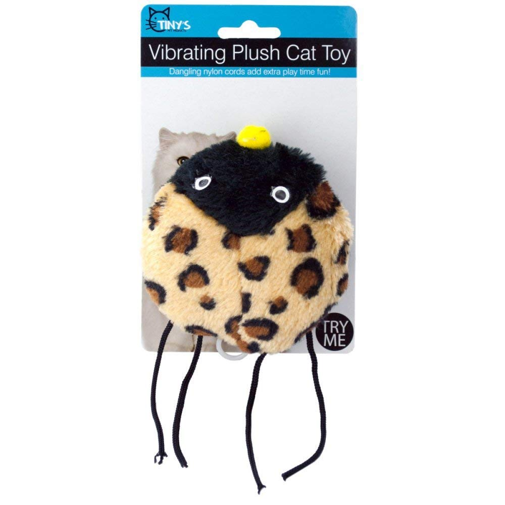 Kole Imports Vibrating Plush Cat Toy