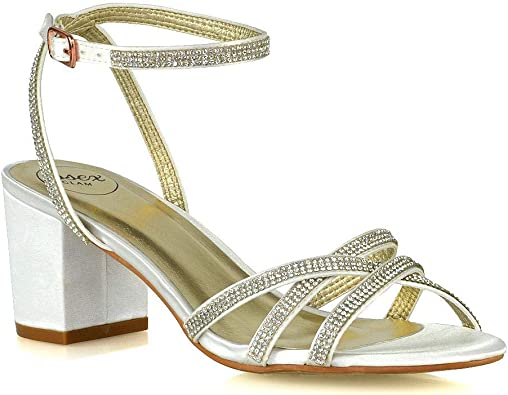 ESSEX GLAM Womens Low Heel Sandals
