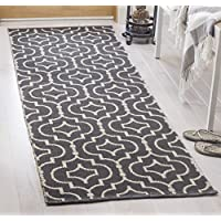 Safavieh Montauk Collection MTK722E Dark Grey and Ivory Runner (23 x 7)