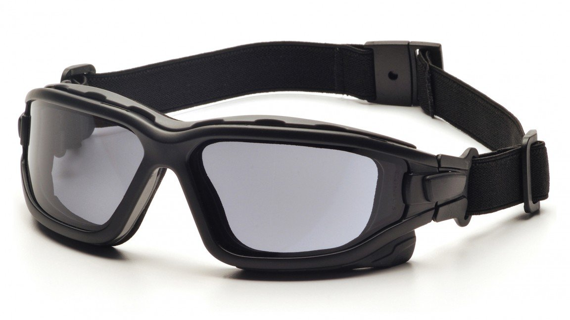 d230daebdf (12 Pair) Pyramex I-Force Glasses Black Strap-Temples Amber Anti-Fog Lens  (SB7030SDT) - - Amazon.com