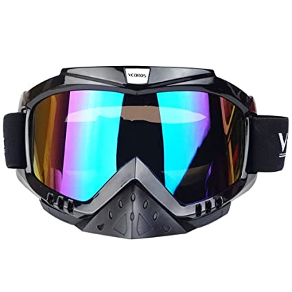 ae56116059 Image Unavailable. Image not available for. Color  VCOROS Tinted MX  Motocross Goggles For Adult   Youth Offroad Dirtbike Downhill DH 100 ATV  Riding