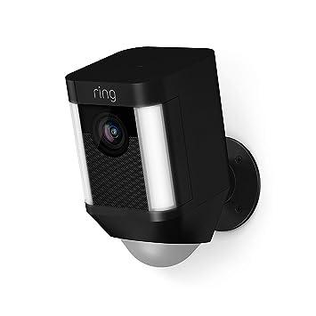 Ring Spotlight Cam con batería - Cámara de seguridad 1080 HD con foco LED, comunicación