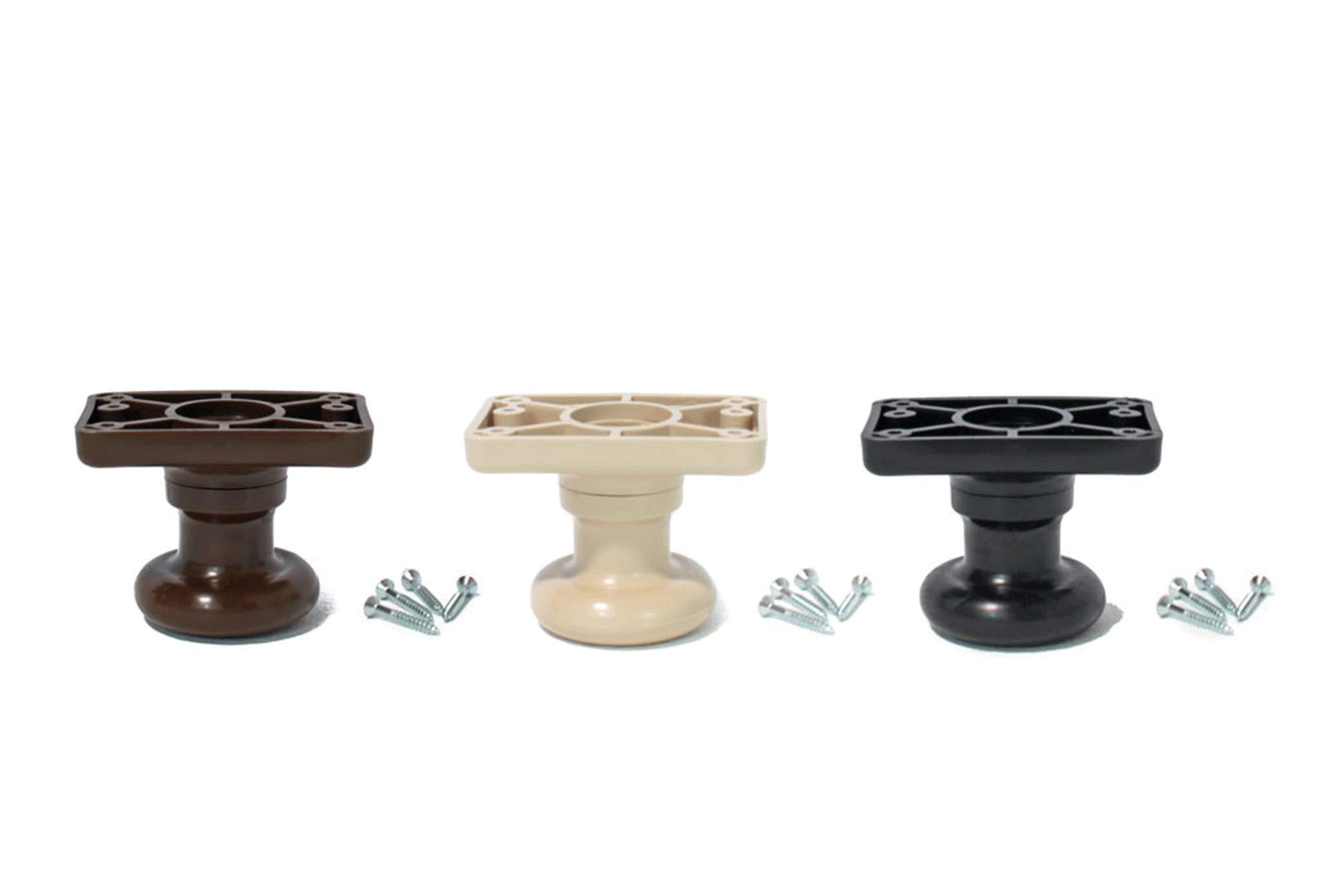 Universal Bedlegs 3'' 2Pc Plastic Screw-In Legs Set of 12, Sand