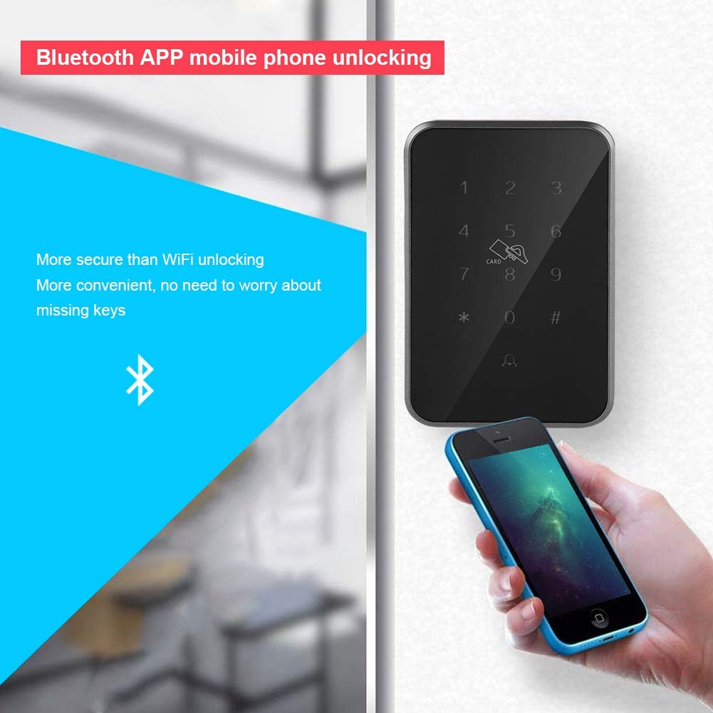 Smart Bluetooth Locks Digital Keypad Door Lock Zinc Alloy Case Open by Mobile Phone Bluetooth//PIN Code//TF Card for Shop Lab Factory Warehouse Apartment Building Company Bank
