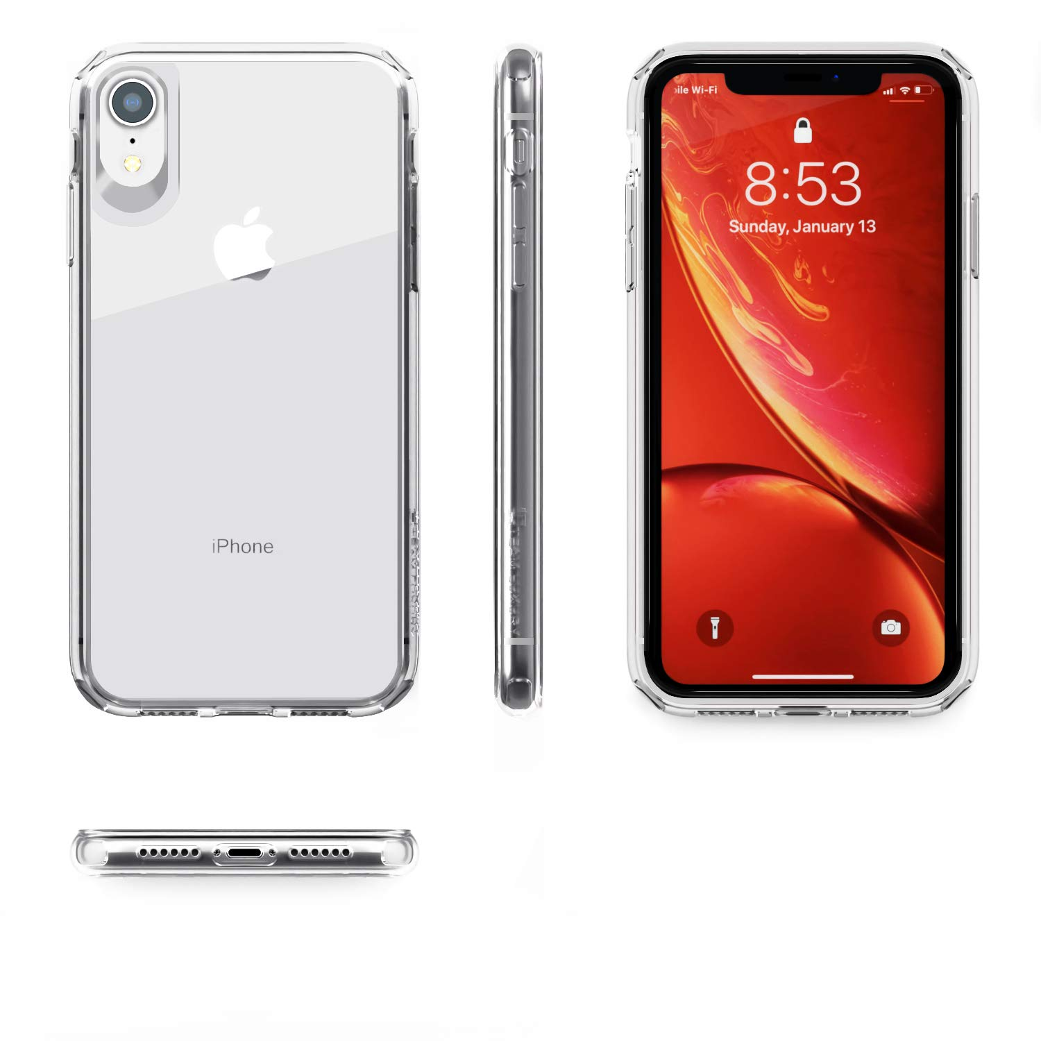 Amazon.com: Funda para iPhone XR de TEAM LUXURY, [absorción ...