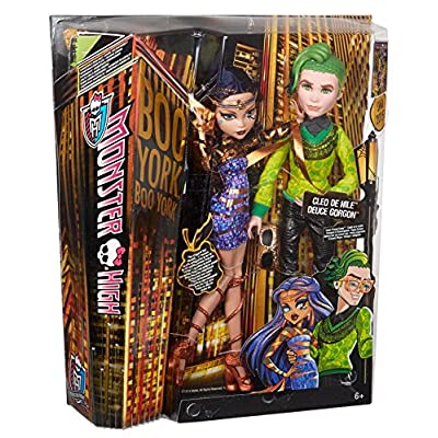 Monster High Boo York, Boo York Comet-Crossed Couple Cleo de Nile and Deuce Gorgon Doll, 2-Pack (Discontinued by manufacturer): Toys & Games