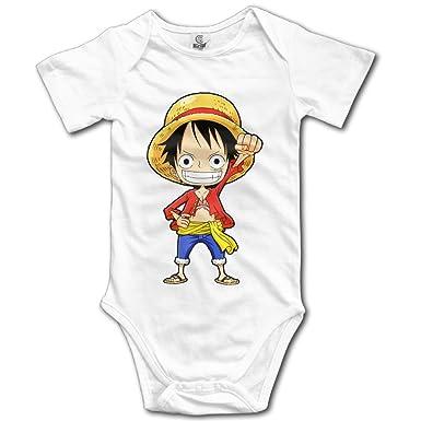 Amazon Com Cartoon Anime Luffy Monkey Baby Onesie Baby Clothes