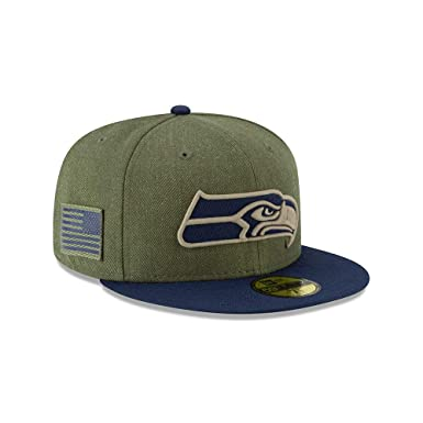 online store 0c3de 74705 New Era Seattle Seahawks On Field 18 Salute to Service Cap 59fifty 5950  Fitted Limited Edition  Amazon.de  Bekleidung