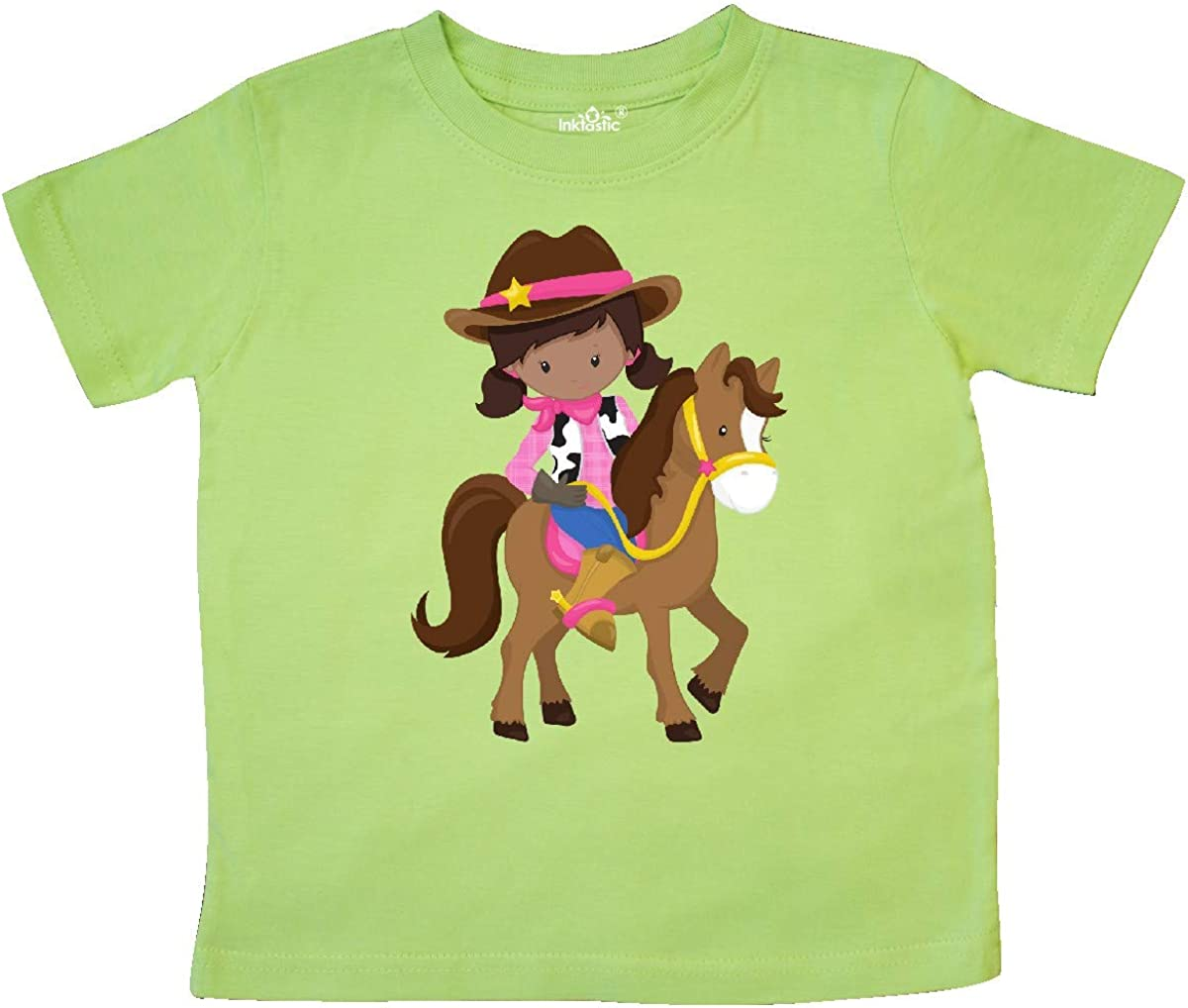 inktastic African American Girl Brown Horse Toddler T-Shirt Cowboy Girl
