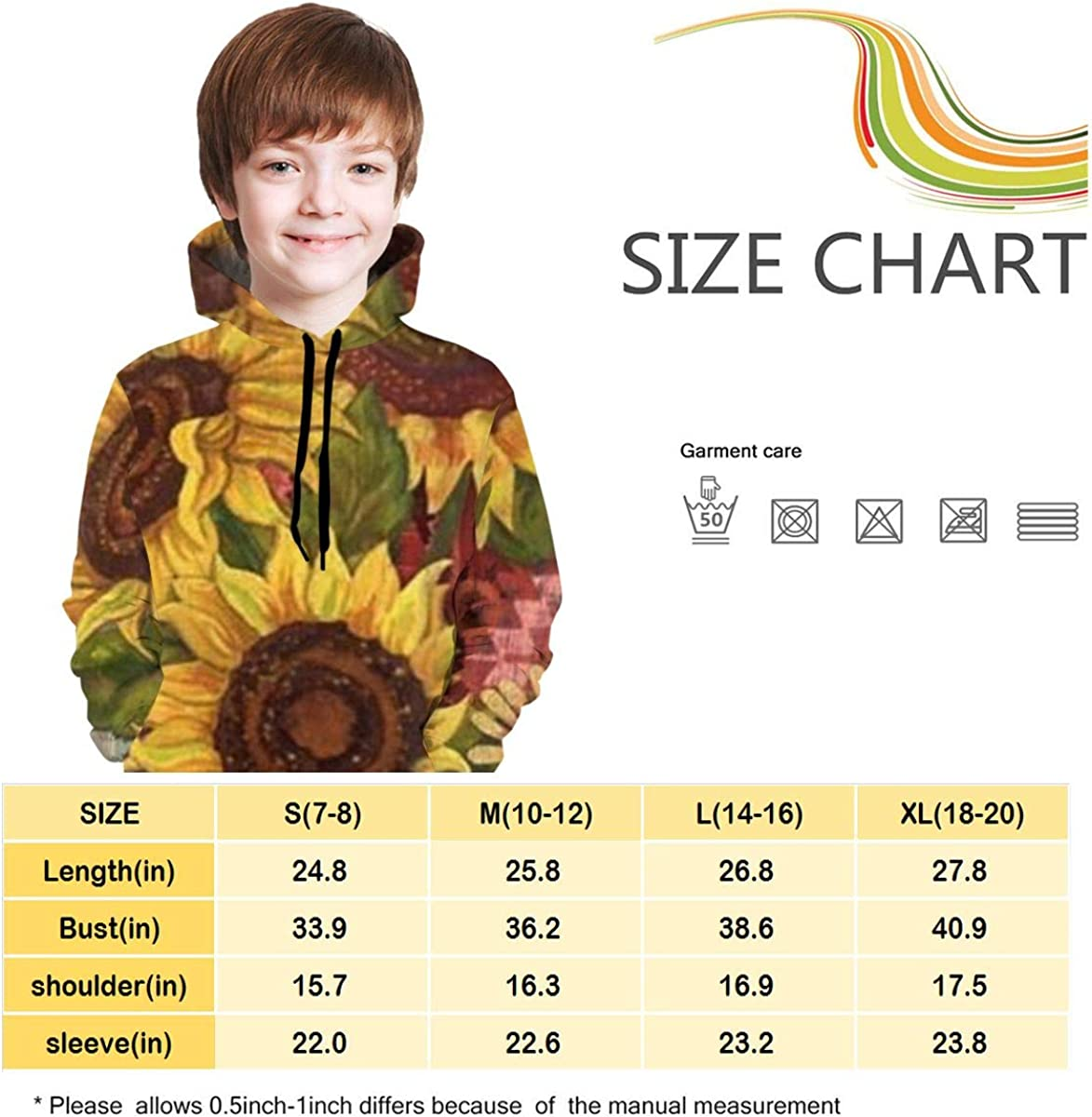 Lichenran Welcome Came to The Autumn Garden-2 Unisex Pullover Teens Hoodie Hooded Sweatshirt Colorful
