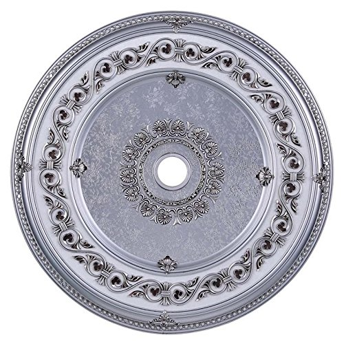 Pewter Ceiling Medallion (Elegant Lighting MD213D43PW Medallion, Pewter, 43