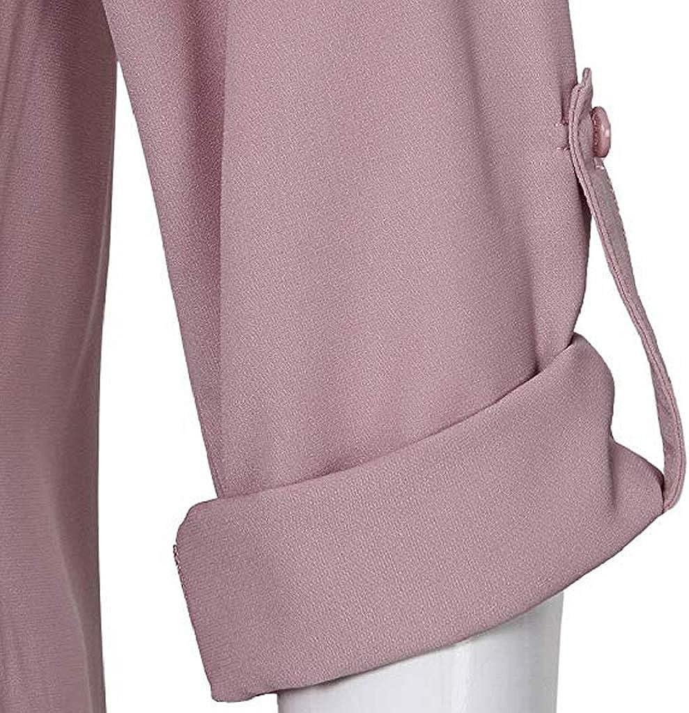 Luckycat Camisas Mujer Elegantes Tallas Grandes Camisetas Mujer Verano Tops Mujer Primavera Camisetas Mujer Largas Camisetas Mujer Manga Larga Algodon Tallas Grandes Mujer Fiesta Blusas
