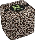 RNK Shops Granite Leopard Cube Pouf Ottoman - 13'' (Personalized)