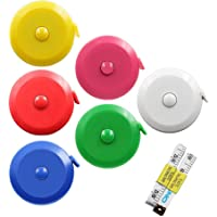 DiCUNO 60 Inch 150 cm Tape Measure Tailor Sewing Flexible Ruler Soft Retractable Colorful Pocket Measuring Tape 6 Pcs (with Two Extra Free Soft Tapes)