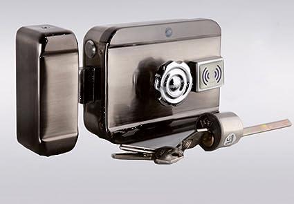 Cerradura eléctrica motorizada, 12 V, con lector de tarjetas btc4 ...
