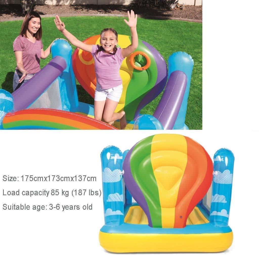 LLSZ Trampolín Inflable Gigante de Salto de Cama Piscinas Ring de ...