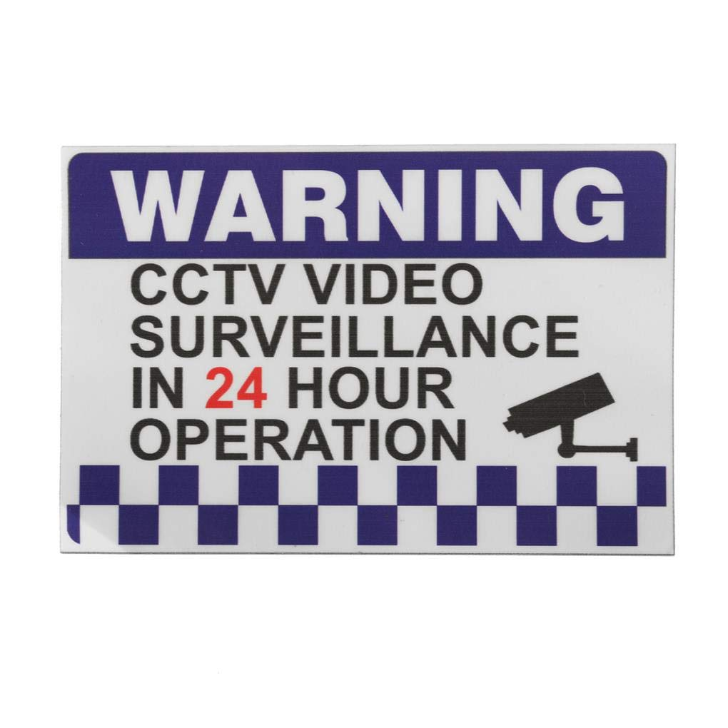 Yongse 100x150mm Internal Warning CCTV Security Surveillance Camera Decal Sticker