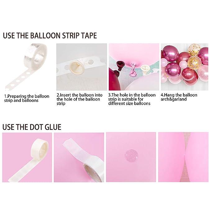 WenderGo - Juego de 135 cintas para globos con arco y guirnalda ...