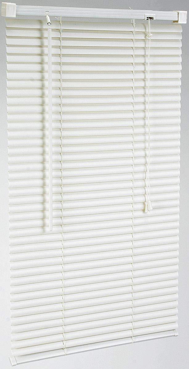 Battalion. 72'' x 35'' PVC Mini Blinds with Light Filtering Light Blockage, White - 2ZGG4