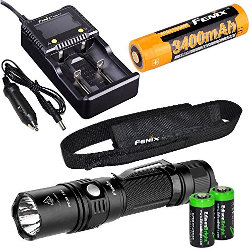 Tactical Flashlight rechargeable EdisonBright batteries
