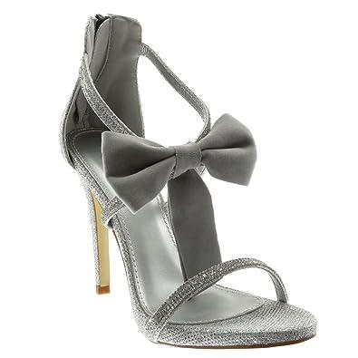 Stiletto Sandale Escarpin Soirée Chaussure Angkorly Métallisé Mode xwqI0pv