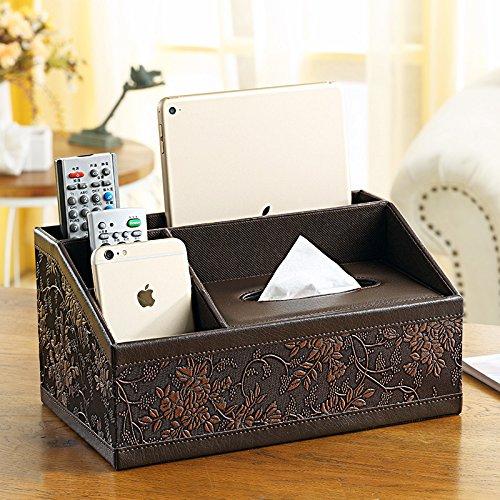 Taihang Multifunktions-Tissue-Box Wohnzimmer Fernbedienung Fernbedienung Fernbedienung Aufbewahrungsbox Harz Retro-Serviette Papier (Farbe   braun) B07Q4KBY53 Toilettenpapieraufbewahrung 5cec0f