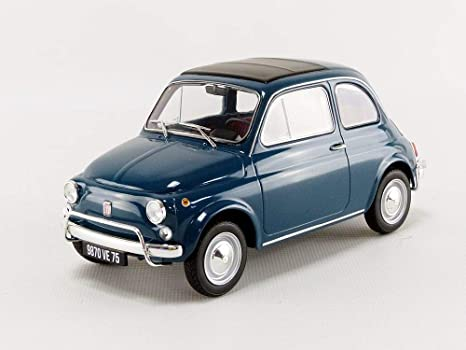 Amazon Com Norev Nv187770 1 18 1968 Fiat 500 L Blue Toys Games