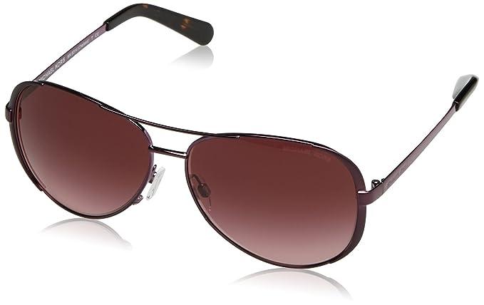 826db1a66864 MICHAEL KORS Women's 5004 CHELSEA 11588H 59 Rectangular Sunglasses 59, Plum /Burgundygradient