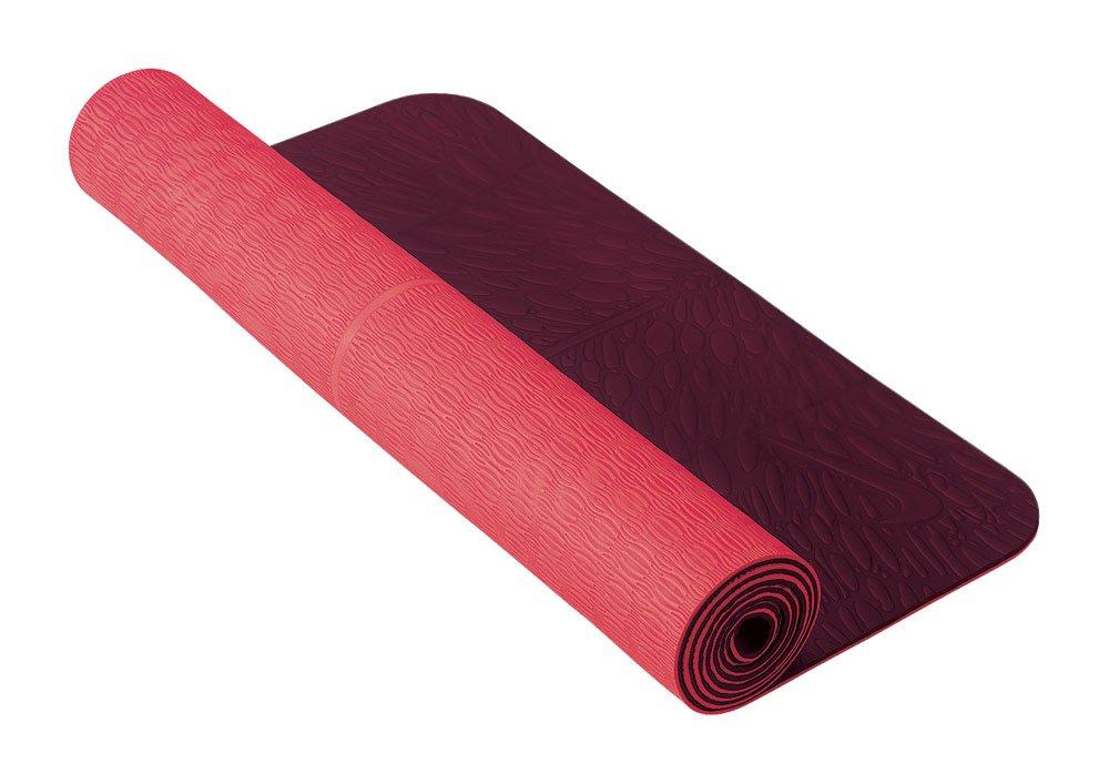 Amazon.com: Nike 5 mm Deluxe – Esterilla de yoga, Rojo ...