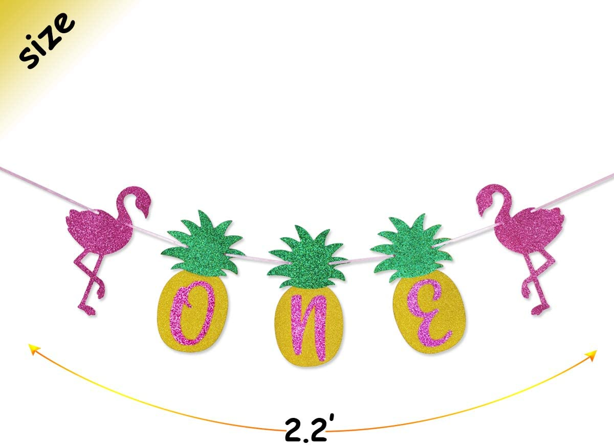 Customisable Reversible Fabric Birthday Party Crown in pink tropical pineapple holiday Childrens Dress Up Cake Smash Baby shower gift