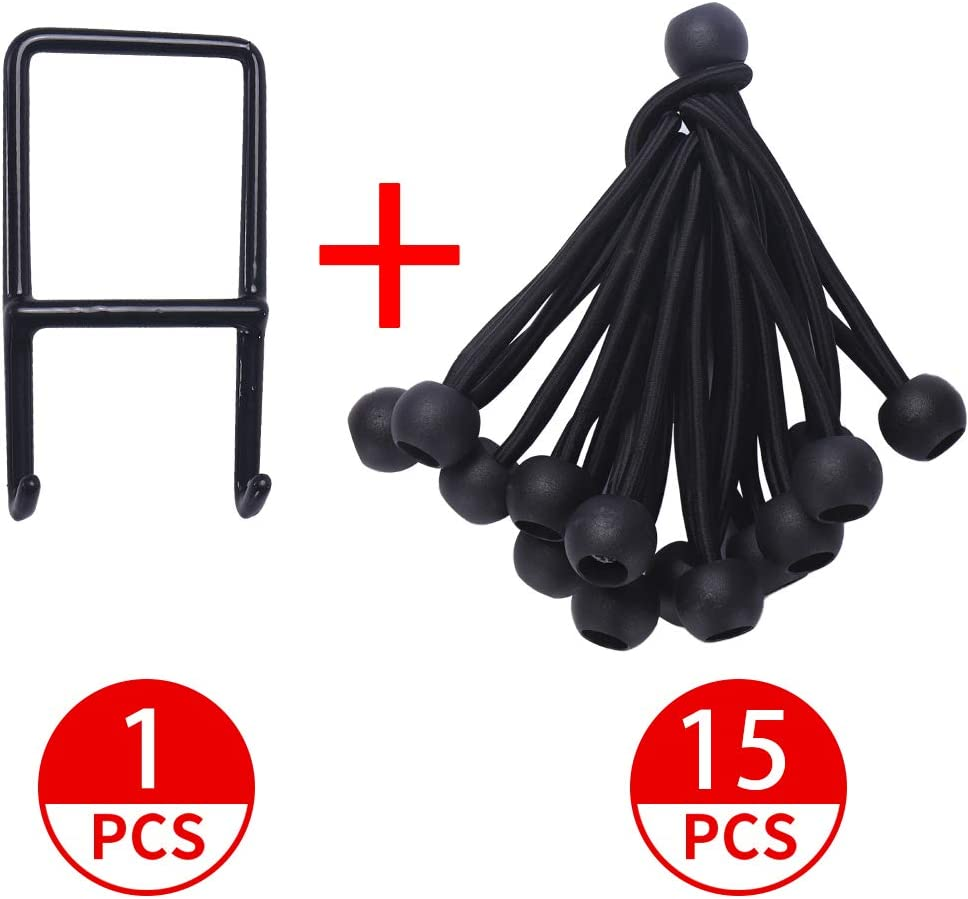 Newan 15pcs Replacement Bungee Ropes Fitness Trampoline+Spanning Tool Max Limit 330 lbs