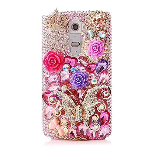 Spritech(TM) LG G Stylo Hard Case,Bling Crystal 3D handmade Rhinestone Design Clear Phone Cover for LG G Stylo Emerald Hematite Ring