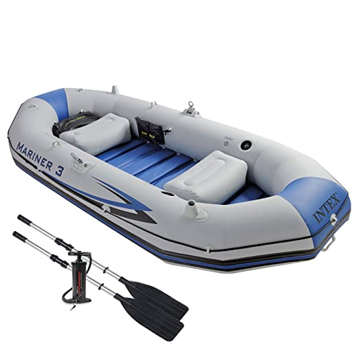 Intex 68373NP - Barca Hinchable Mariner 3 con 2 Remos 297 x 127 x ...