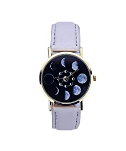 Fashion Women Crystal Golden Stainless Steel Analog Quartz Wrist Watch Retro Luxury Bracelet Watches for Kid (White)